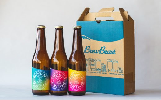 花巻産クラフトビールおまかせ3種セット(330ml×3本)BrewBeast Brewery 【689】