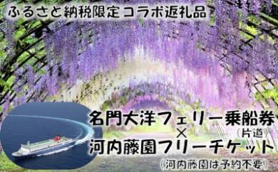 L07-25 【ふるさと納税限定】名門大洋フェリー×河内藤園「片道乗船&入園セット」