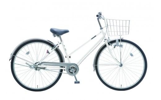 AV15_内装3段オートライト付き自転車 フィフスアベニュー27型スノーホワイト