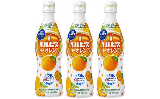 『カルピス』手摘みオレンジプラスチックボトル470ml 12本
