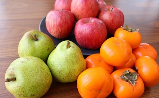0127-2009 フルーツセット(ラ・フランス、りんご、柿)5kg