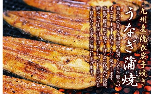 【応援特別品】うなぎ備長炭手焼蒲焼2尾セット(九州産)