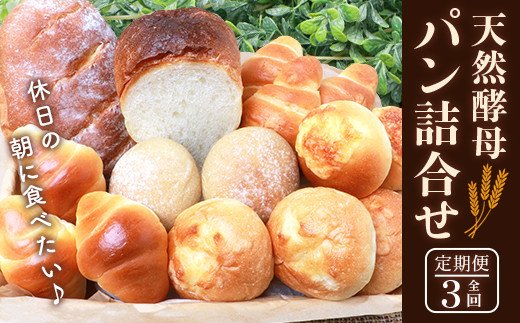 【3か月定期便】休日の朝に食べたい天然酵母パン詰合せ【日本三大秘境の人気ベーカリー】