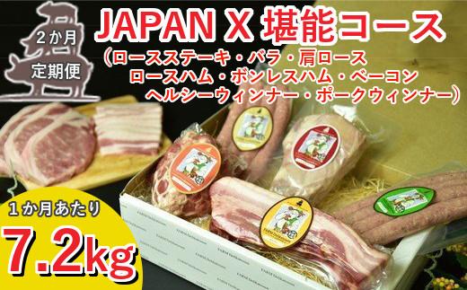 【2ヶ月連続】JAPAN X堪能コース/計7.2kg 【04301-0057】