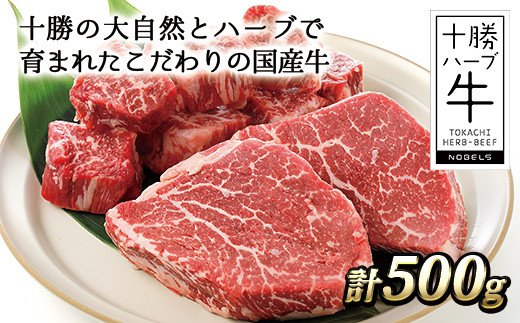 [030-H30]十勝ハーブ牛 ヒレステーキセット<計500g>