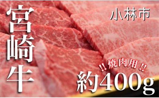 宮崎牛バラエティ焼肉用<約400g:西ノ原牧場> SNH04