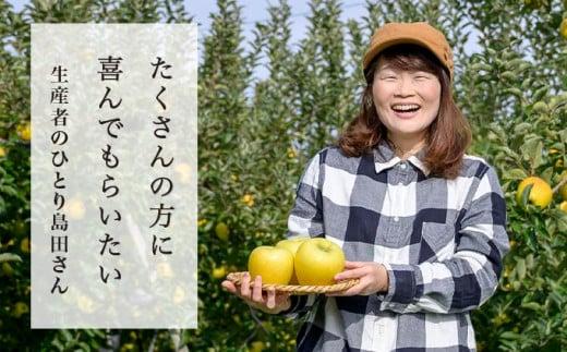 摘果によってりんごの大きさや形の良さが左右されるそうで、「摘果には特に力を注いでいる」と笑顔で話してくださいました。