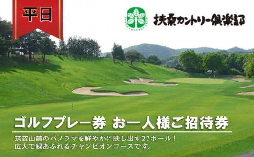 DY-1 平日ゴルフプレー券 お一人様ご招待券