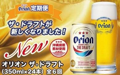 【定期便】【6ヶ月連続】〈オリオンビール社より発送〉ザ・ドラフト(350ml×24本)
