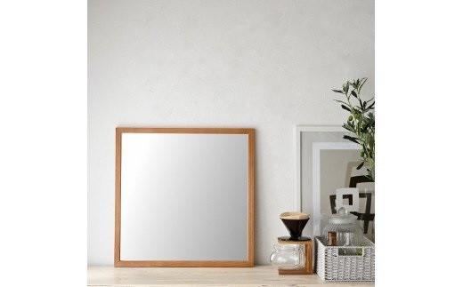 SENNOKI ホワイトアッシュ 木枠正方形姿見 インテリアミラー(2色カラバリ展開)