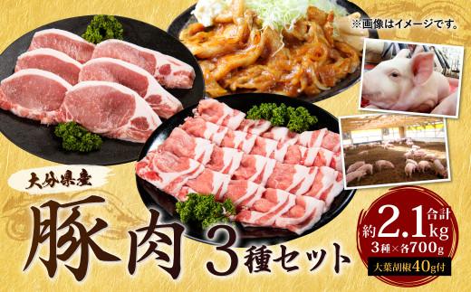 022-490 大分県産 豚肉 セット 約2.1kg 大葉胡椒付き