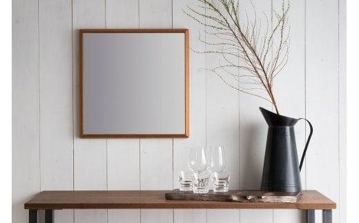 SENNOKI アメリカンチェリー木枠正方形 デザインインテリアミラー