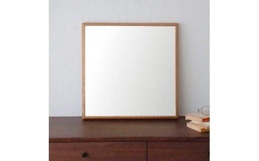 SENNOKI ホワイトオーク木枠正方形 デザインインテリアミラー