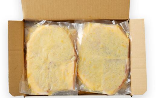 熊本県産 モンヴェールポーク モモ肉 みそ漬け 計2kg (250g×8)