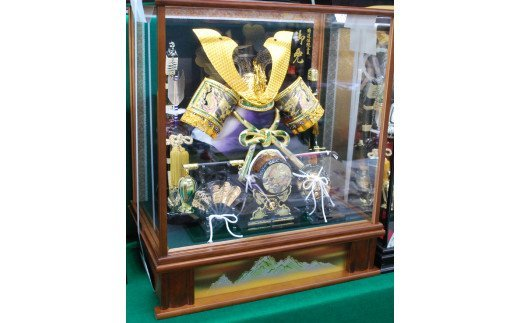 AAX-192 茶ケース入り彫金兜