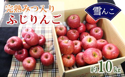 696 【令和4年1月中旬~発送予定】[雪んこ]完熟みつ入りふじりんご 約10kg