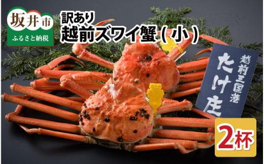 訳あり越前ズワイ蟹(小) 2杯 [C-1601]