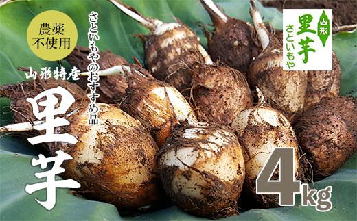 FY18-099 農薬不使用 山形特産自社栽培土付里芋4kg!(さといもやのおすすめ品)