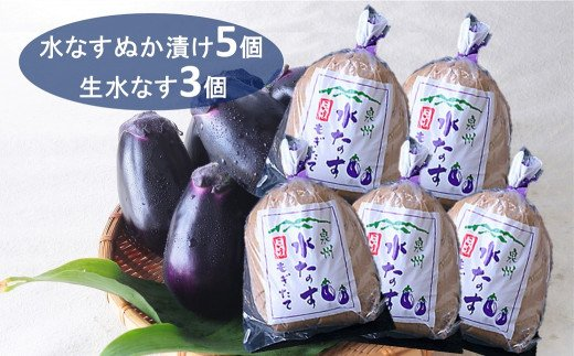 B0143.小池商店「泉州水なす漬」と生水なすセット