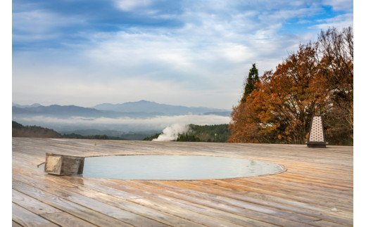 絶景の温泉入浴にも。