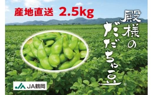 A03-602 【後期】殿様のだだちゃ豆250g×10袋(2.5kg)