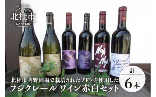 フジッコワイナリー フジクレール ワイン赤白6本セット(720ml×6)