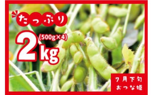 A01-604 【令和3年分先行予約】小池喜左衛門ファームのおつな姫 2kg(500g×4袋)枝豆