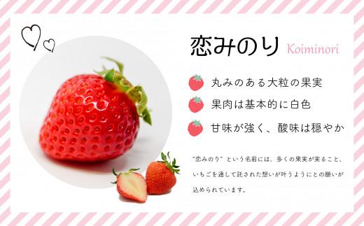 香り豊かで甘みと酸味のバランスが良いいちご「恋みのり」を冷凍してお届けします。※画像はイメージです。