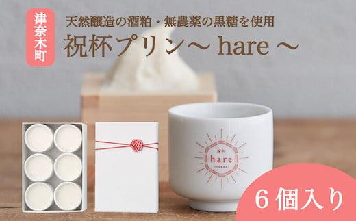 CZ001 祝杯プリン~hare~6個入り