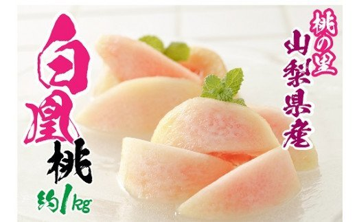 1-1-111山梨県南アルプス市産完熟桃 白鳳系 約1kg(2~5玉)