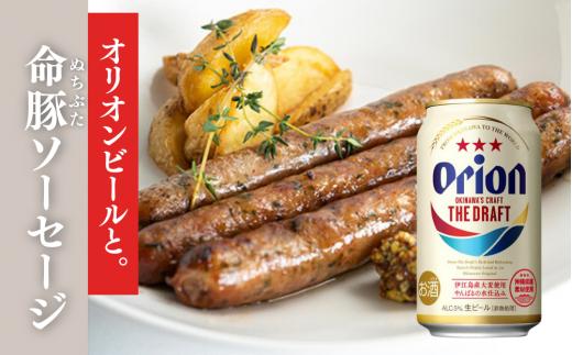 【限定ビールセット】オリオン ザ・ドラフト&命豚(ヌチブタ)ソーセージ