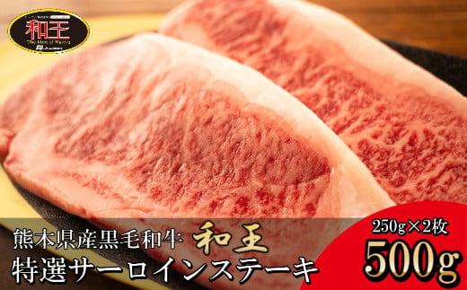 IZ006 熊本県産 黒毛和牛 和王 サーロインステーキ 500g 和牛 肉 牛肉