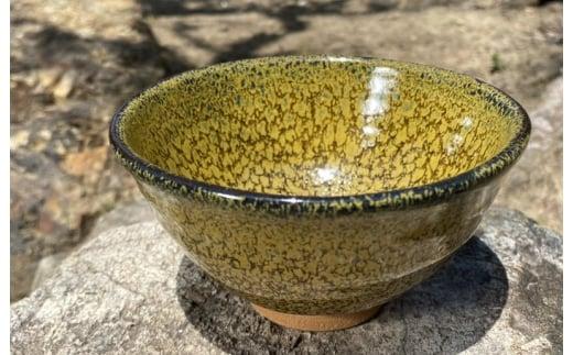 099H264 「焼き物」黄華窯変油滴天目茶碗