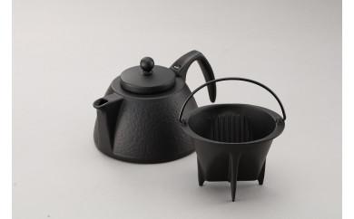 (株)岩鋳 南部鉄器 コーヒーポットセット ブラック(IH対応)