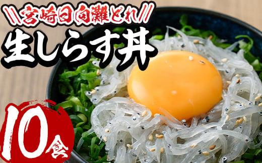 【E-7】宮崎日向灘どれ生しらす丼(50g×10食分・個包装)【水永水産】