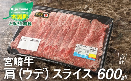 K18_0016<宮崎牛肩(ウデ)スライス600g>