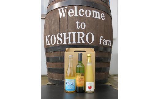 WC06-21F 子白農園 シードル・りんごワイン・スパークリングりんごジュース3本セット