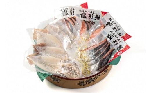 A4117 【チャレンジ応援品】村上名産「塩引き鮭」と自家製「一夜干しスルメいか」