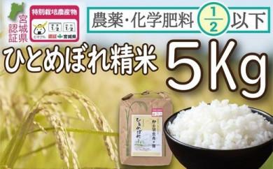 【2020年度産】農薬・化学肥料節減米ひとめぼれ(精米5キロ)