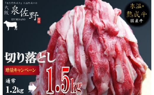 010B521 【期間限定】氷温(R)熟成牛 切り落とし 1.5kg(+300g増量)訳あり