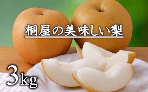 梨作り50余年!桐屋(やぎさわ梨園)の美味しい梨3kg 【11246-0060】