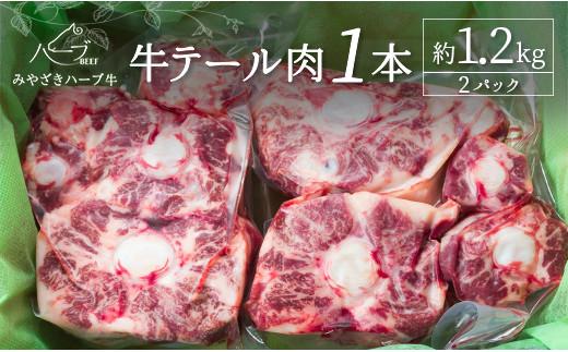 <宮崎ハーブ牛>テール肉 1本 約1.2kg【B501】