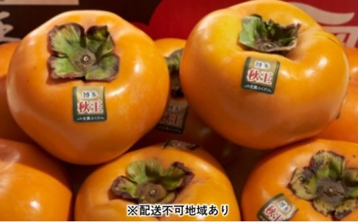 [№5656-1736]秋王(あきおう)【柿】約1.5kg箱(4~6玉)【配送不可:離島】