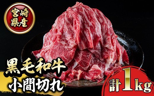 宮崎県産和牛!切落し(500g×2P・計1kg)【 KU141】
