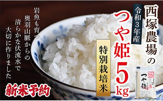 N008-R3-01 【新米予約】特別栽培米つや姫5㎏