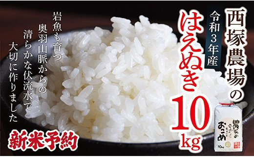 N010-R3-01【新米予約】岩魚米はえぬき10㎏