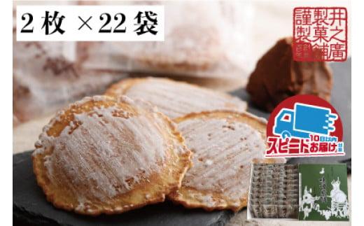味噌煎餅 2枚×22袋セット 飛騨 井之廣製菓舗 飛騨古川 飛騨市