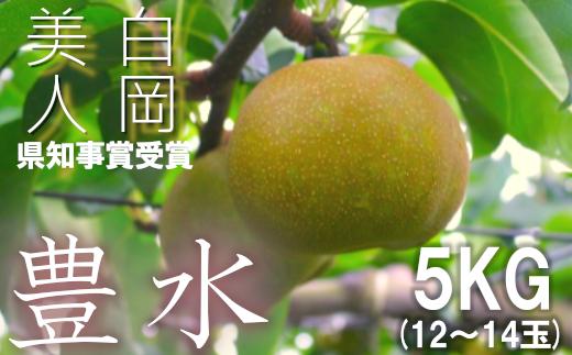 藤井農園の美味しい梨『豊水』5kg箱入り 【11246-0153】