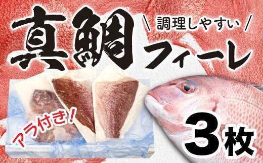 【チャレンジ応援品】真鯛フィーレ たっぷり1.5尾分!!