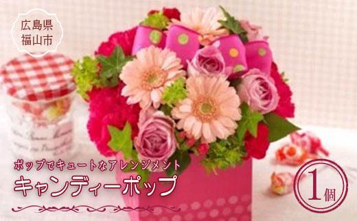 ボックス型アレンジメント「キャンディーポップ」生花 F21L-558